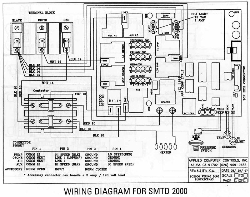 cal spa wiring diagram
