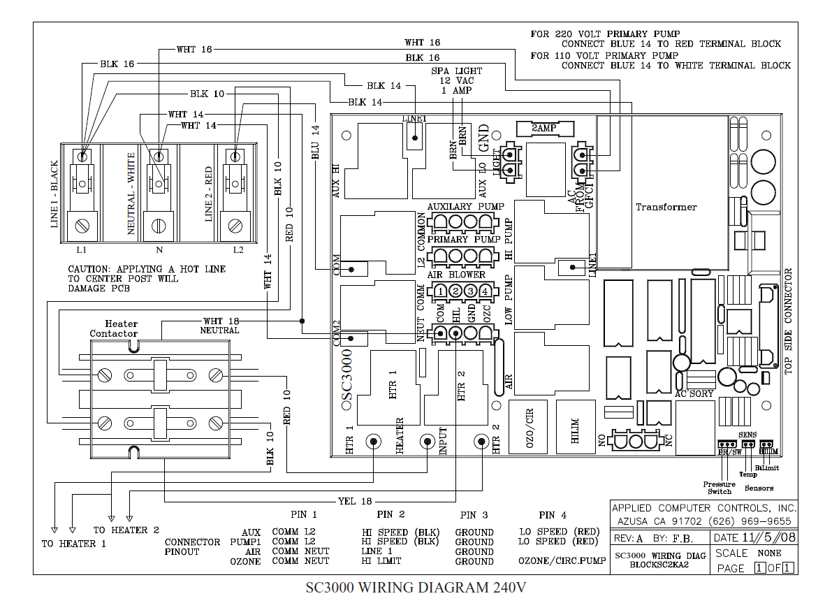 Wiring Diagrams Acc Spas Applied Computer Controls 2 Amp Wire Diagram Sc2000