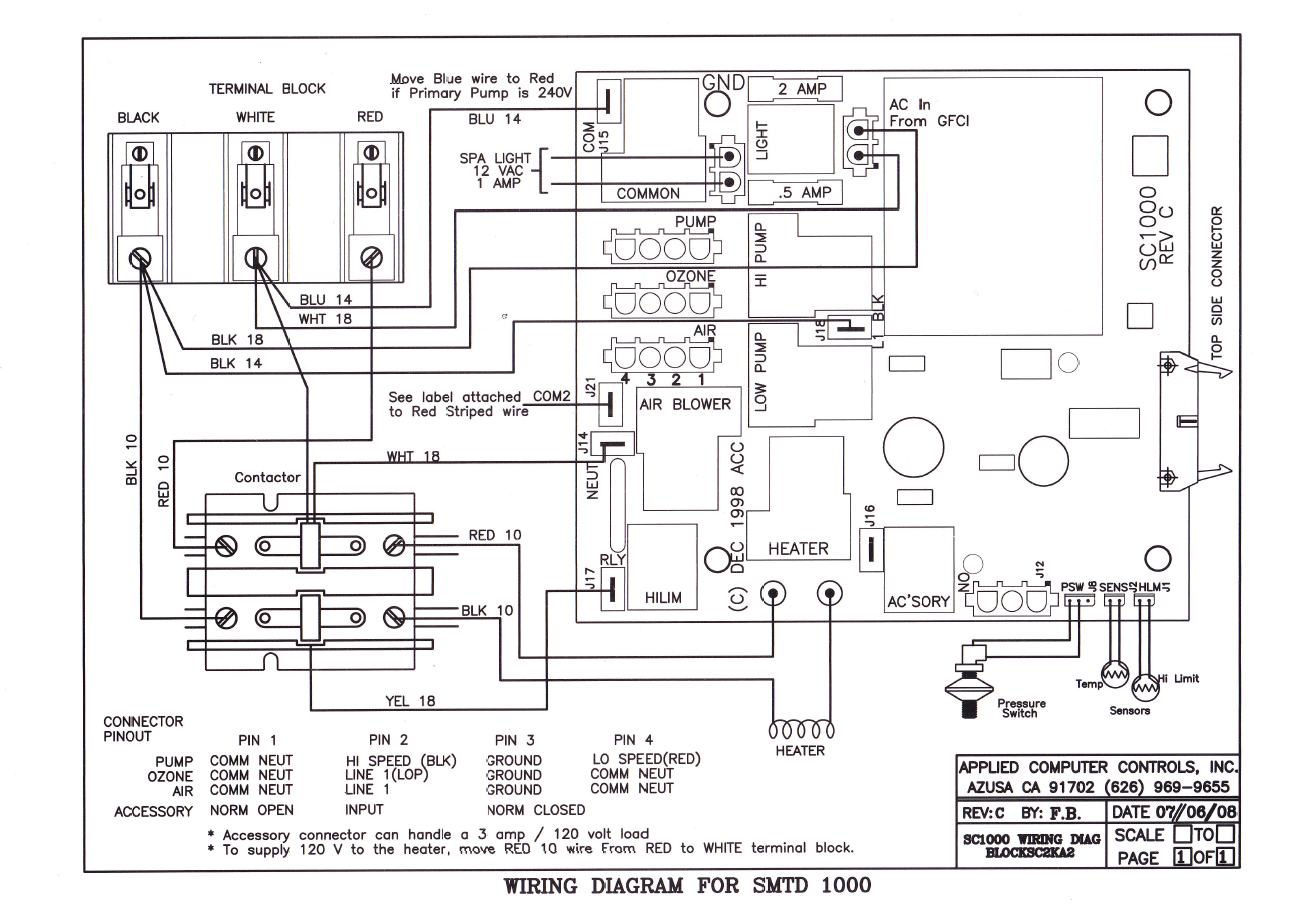 Spa Control Wiring Diagram Detailed Schematics Master Diagrams Acc Spas Applied Computer Controls Septic Tank